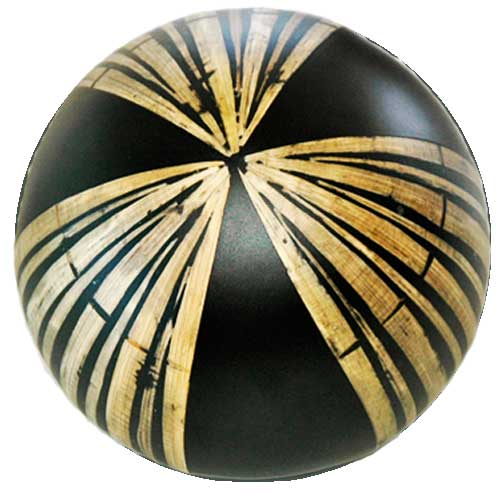 Ceramic Decor Ball with Bamboo
